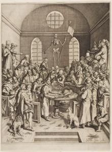 An Anatomical Theatre In Leiden, 1616
