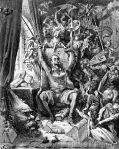 Don Quixote in his library