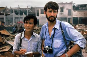 Sam Waterson, Dr. Haing S. Nor, in The Killing Fields, 1984. Writer: Bruce Robinson