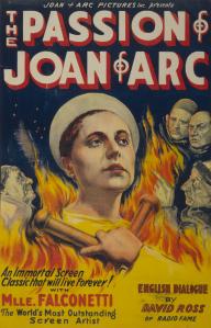 La Passion de Jeanne d'Arc (1928). English Poster.